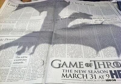 Game of Thrones newspaper ad