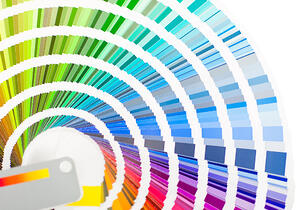Color palette �¢?? isolated over a white background