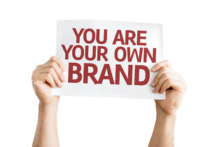 You are Your Own Brand card isolated on white background